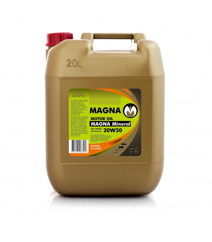 Magna mineral 20w50 united oils for 20w50 motor oil temperature range